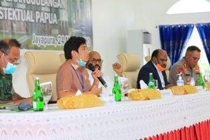 rapat Forum Koordinasi Pimpinan Daerah (Forkopimda) Papua bersama bupati/wali kota se-Papua di Gedung Negara Dok V Jayapura, Selasa (24/3/2020).